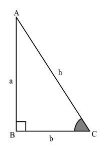 نسبت های مثلثاتی در مثلث قائم الزاویه